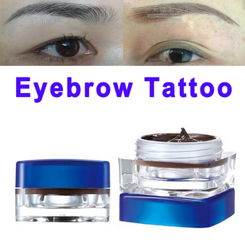 Eyebrow Permanent Makeup Paste Pigment Tattooing Black Paint for Tattoo Ink White Color Goochie Mascara Lip Special Henna Pen<br><br>Aliexpress