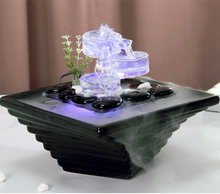creative water fountain indoor desktop air humidifier fengshui ornaments new year christmas home