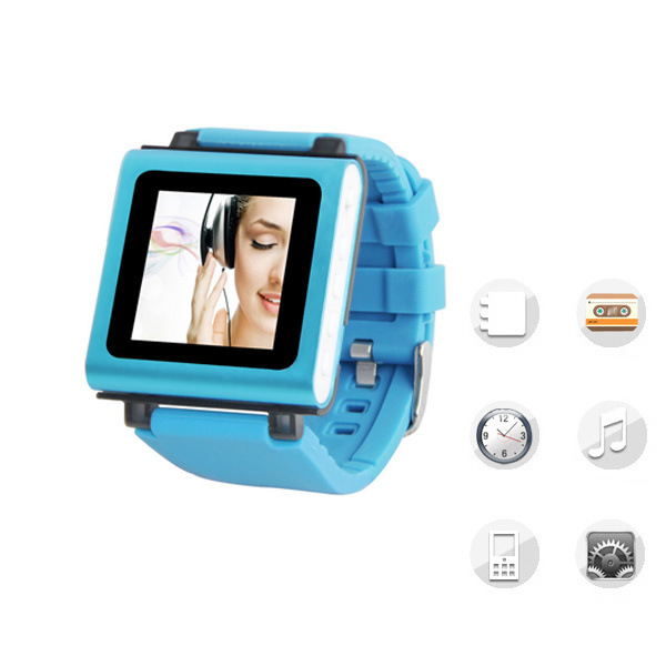 Mini Clip MP3 Players Fashion Sport Watch 8G supports video and voice recording function Mp3 Music Player Walkman music watches(China (Mainland))