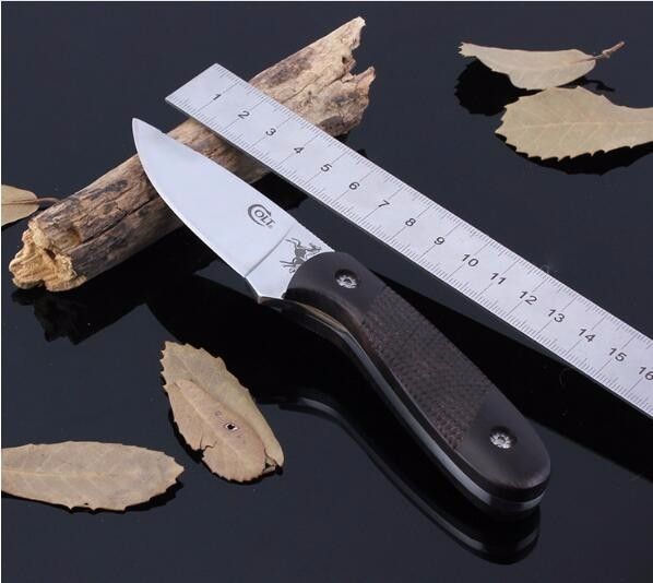 Buy SHNAPIGN  Stainless Steel Fixed Knife Hunting Knife Outdoor Tool Camping Small fixed blade Knife Color Wood Handle Knives  S052 cheap