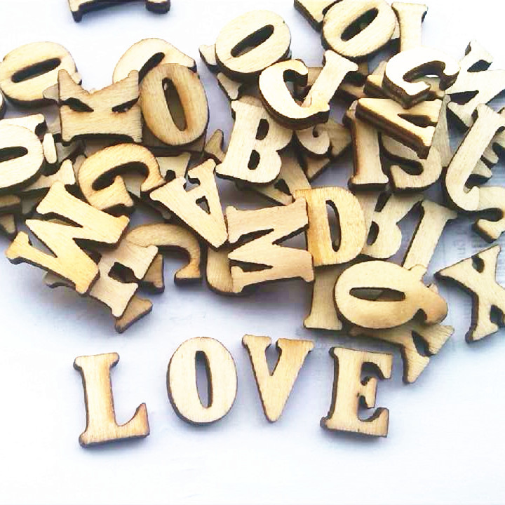Fashon english letters wedding wood crafts wooden letters for Small wooden letters for crafts