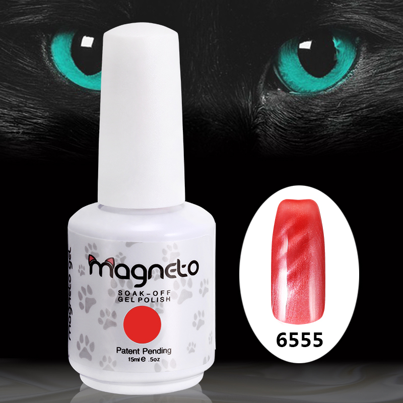 1PCS 2015 New Top Quality Magnetic Cat Eye UV Nail Gel Polish with Peach Red Colors 15ml Nail Gel Lacquer item 6555(China (Mainland))