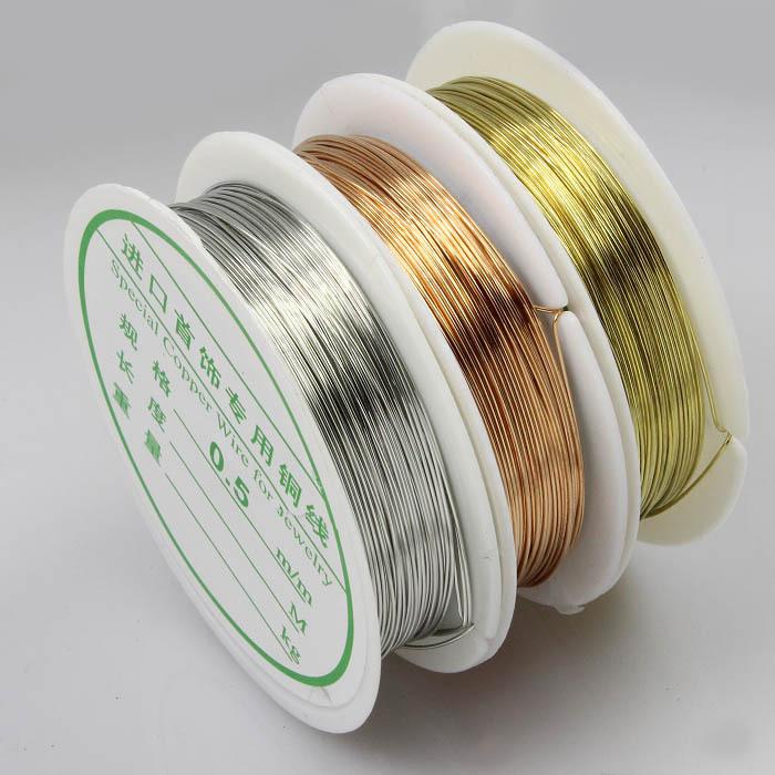 87 - 22 0.3 мм 20 м с покрытием позолоченные медные провода бисером проволока ювелирных изделий из латуни веревки веревки