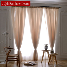 White Linen Tulle Curtain For Living Room Bedroom Solid Girls Voile Sheer Curtains Drapes For Window Wedding Decoration Drapes(China (Mainland))