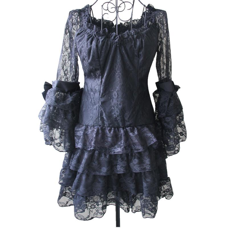 Zwarte Gothic Blouse 89
