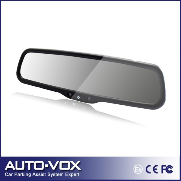 "Car 4.3"" rear view mirror monitor Auto Adjust Brightness for DVD CCD camera(China (Mainland))"