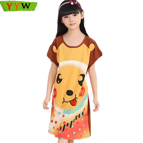 Princess dress nightie children girls nighty clothes girls nightgowns children sleepwear chemise de nuit enfant(China (Mainland))