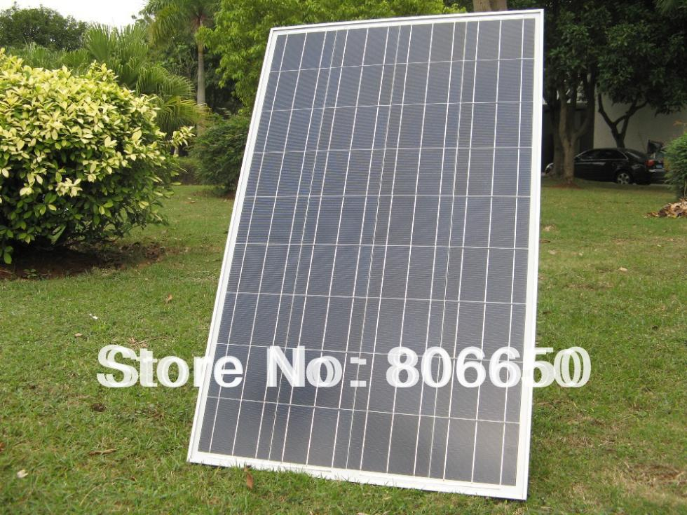 Eu stock, no tax, 100w solar panel 18v A grade poly PV DC solar moduel RV solar battery charger# *(China (Mainland))