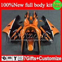 Buy Fairing KAWASAKI NINJA ZX6R 94-97 Orange black ZX 6R 636 C8 ZX636 ZX-6R 94 95 96 97 1994 1995 1996 1997 Orange blk +decal for $429.00 in AliExpress store