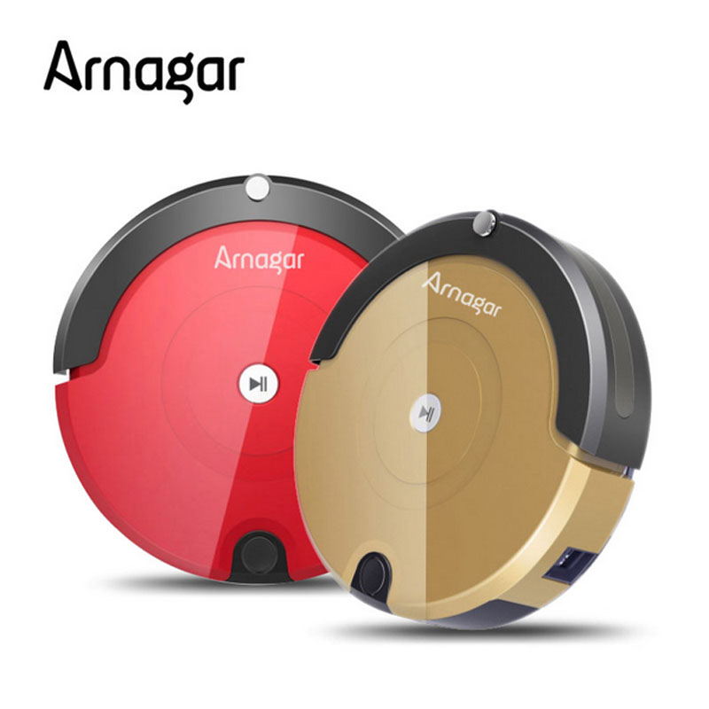 Arnagar Robotic Vacuum Cleaner Q2S 350ml dustbin,3cm barrier overpass V type Rolling Brush Vacuum Cleaner 2 hours working time(China (Mainland))