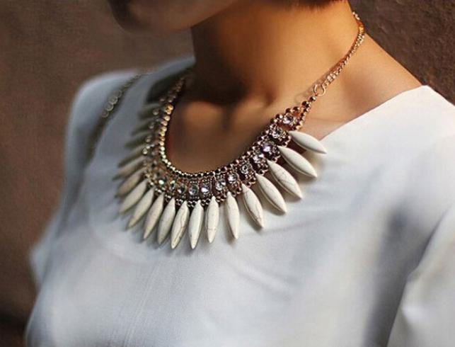 Fashion Women Crystal Pendant Chain Choker Chunky Statement Bib Necklace BOHO(China (Mainland))