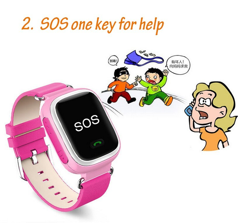 Kid GPS Tracking Smart Watch Wristwatch SOS Call Location Finder Locator Device Tracker for Kid Safe Anti Lost Monitor Baby Gift