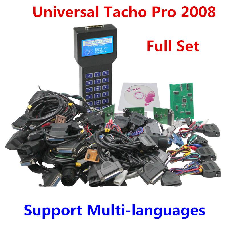 Full Set Universal Tacho Pro Mileage Correction Tool Tacho Pro 2008 Unlock Version Odometer Correction Tacho Programmer DHL Free(China (Mainland))