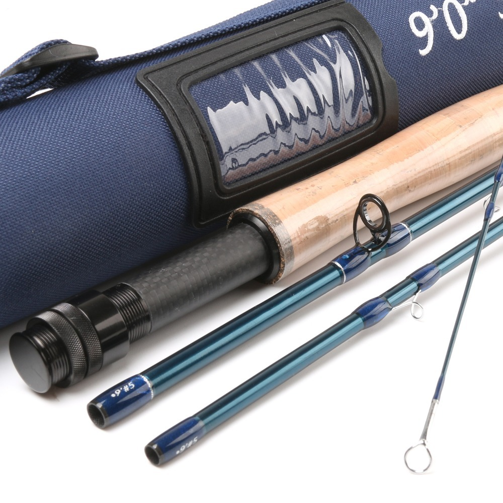Free shipping carbon fly fishing rod 24k sk carbon 9ft 5wt for Shipping tubes for fishing rods
