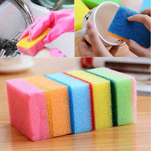 One piece Sponge Home Bar Kitchen Cleaning Products Random Color Dish Towel Tools NEW Color Random HG-1274(China (Mainland))