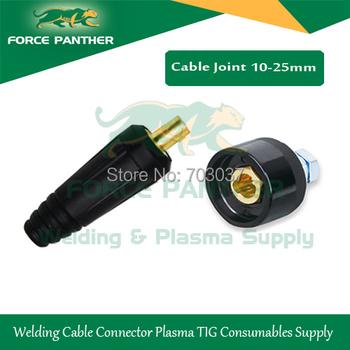 Promotion Plasma Cutter Male Connector 10-25mm welding machine Part  socket cable Plug tig welder parts 160a 1set