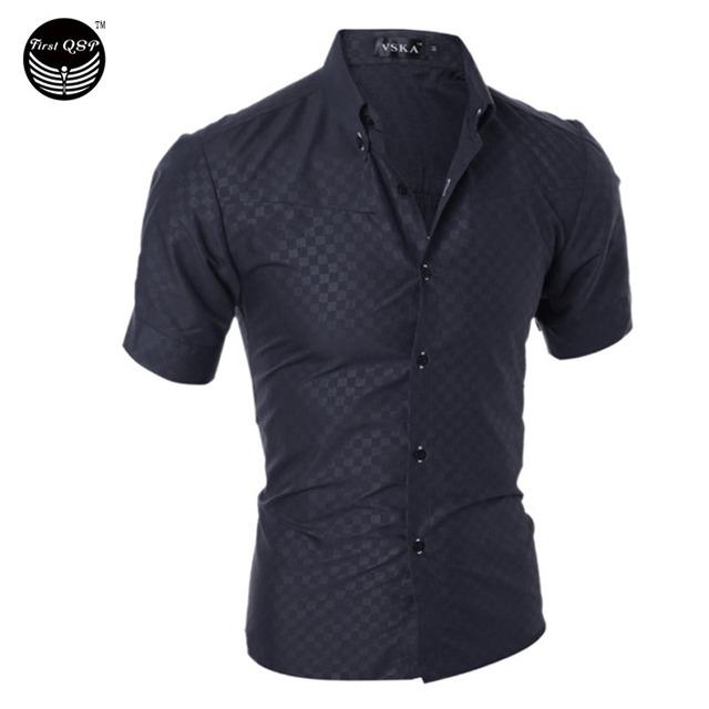 Мужчины рубашку 2016 мода бренд мужской клетчатую рубашку мужской рубашка с короткими ...