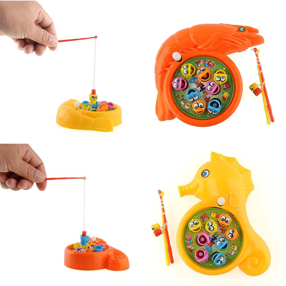 Interesting Children Baby Plastic Rotation Magnetic Fishing Game Educational Preschool Toy Set Gift(China (Mainland))