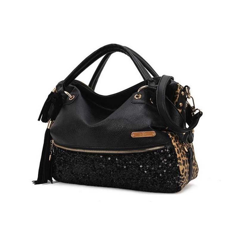 New 2016 Fashion Rivet Women handbag Frosted Women messenger bag Large capacity women tote Shoulder bag Ladies Tassel BagXA1207B