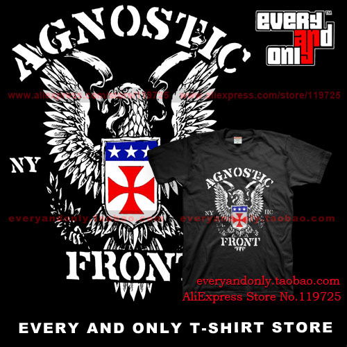 High Quality Agnostic Front band New Eagle 2013 100% Cotton Loose printing T-shirt Tee T(China (Mainland))