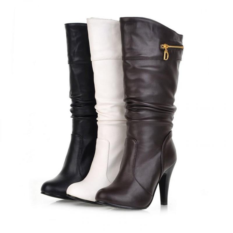 aliexpress buy toe mid calf boots shoes cowboy