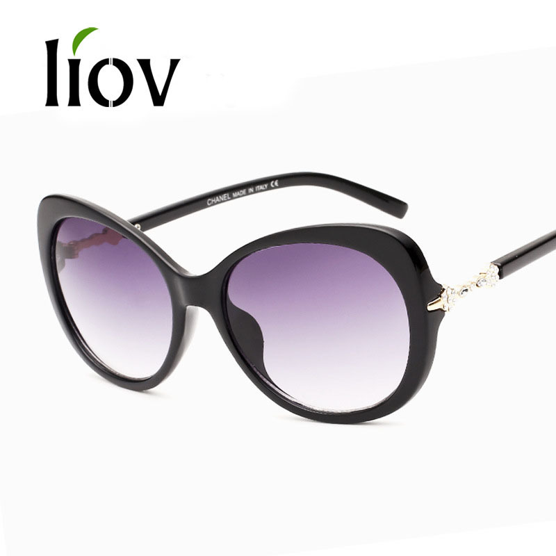 2015 New Fashion Women Round Sunglasses big frame Shades ...