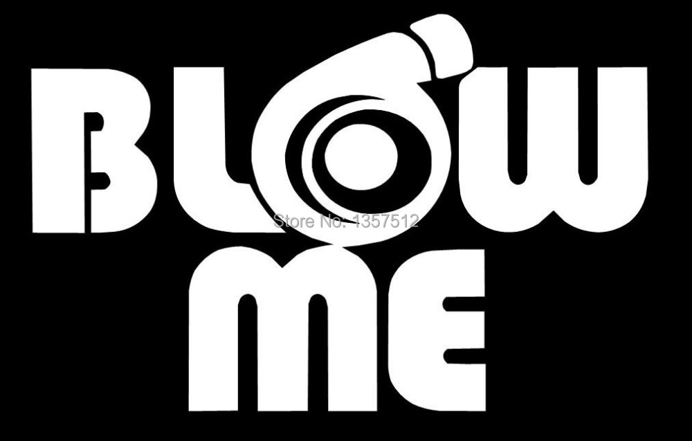 BLOW ME SNAILS TURBO BOOST CAR WINDOW STICKER Truck Bumper Auto Door Laptop Kayak Canoe Art Wall Die Cut Vinyl Decal 9 Colors(China (Mainland))