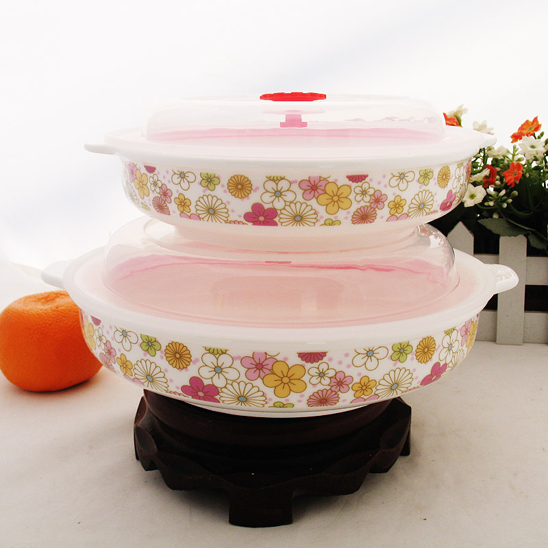 Korean factory direct sealing ceramic preservation binaural new microwave baking dish piece suit<br><br>Aliexpress