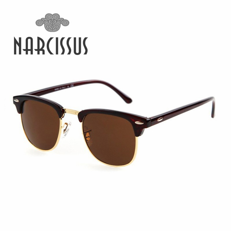 2016 Classic Rayray brand Designer Sunglasses Ben outdoor men women Semi rimless sunglasses Retro logo Origin clubmaster Box Set(China (Mainland))