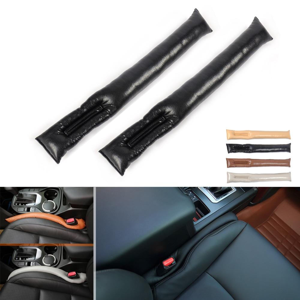 2X New Leather Car Seat Gap Filler Soft Pad Leak Proof Spacer Padding for BMW F10 E90 E91 E92 E93 Focus Cruze Impala Rio VW Polo(China (Mainland))