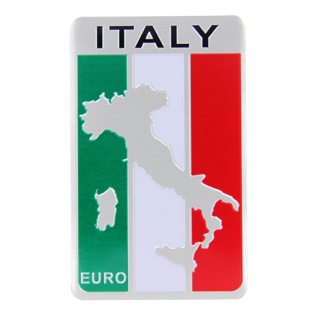 New Car Styling 3D Aluminum Flag Italy Car Sticker National Badge Emblem(China (Mainland))