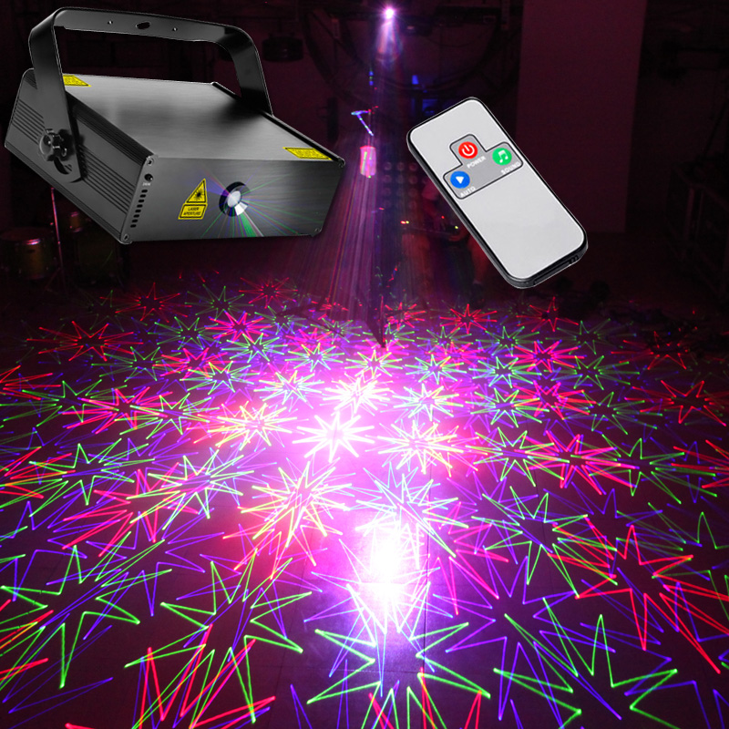 RGB Laser Projector 100 Patterns Scanner Remote Dance Disco Light Party Decoration DMX512 Controller Stage Lighting DMX(China (Mainland))