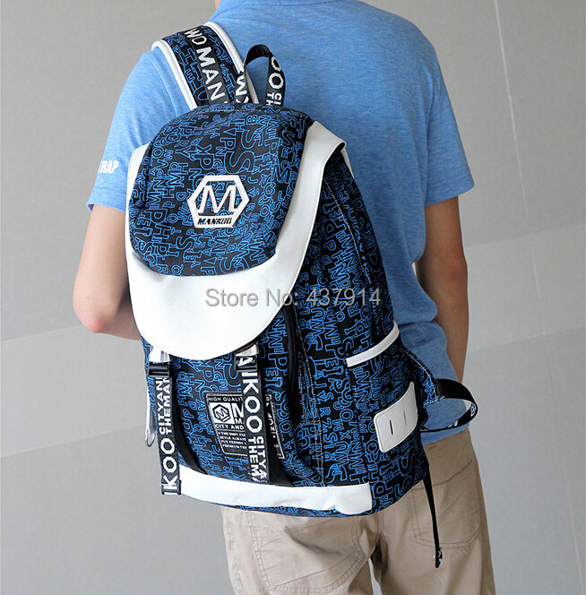 2015 male students shoulder bag fashion trend Korean version large capacity travel backpack computer - Online Store 437914 store