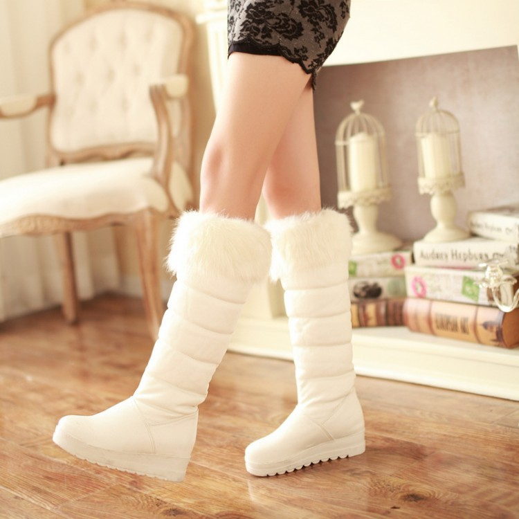 2015 winter fashion wild snow boots knee high women sweet tide shoes warm big size34-42 - Baby Beauty Garden store