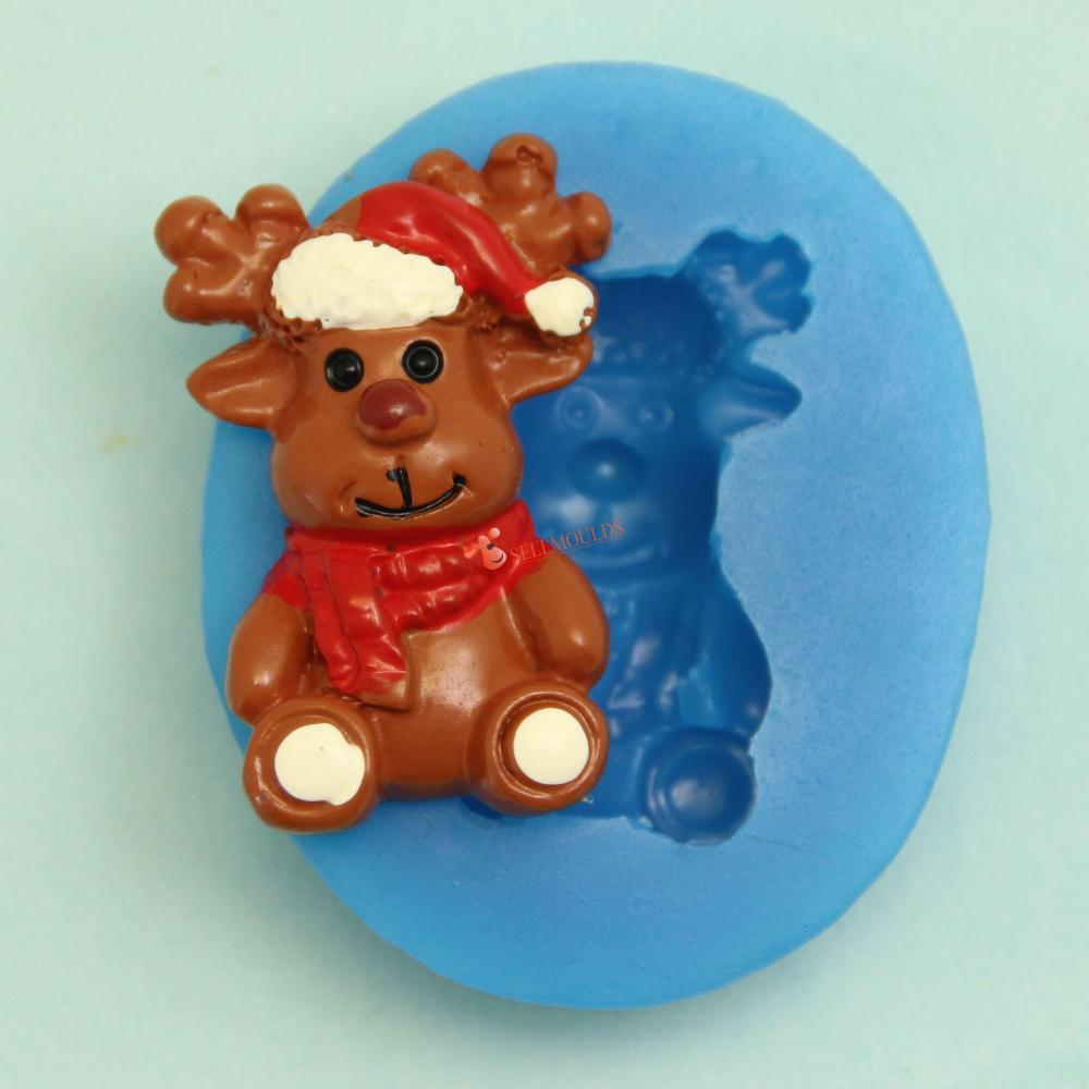 Christmas Cake Decoration Molds : Aliexpress.com : Buy Mini Deer Christmas Silicone Cake ...