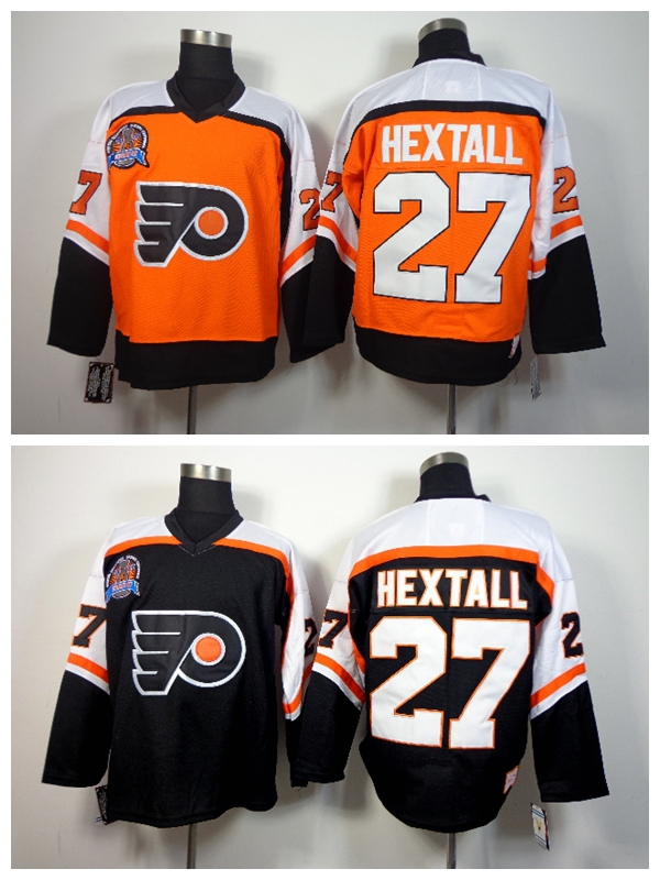 Гаджет  Philadelphia Flyers 1998 Ron Hextall Throwback Hockey Jerseys Cheap Orange Black CCM Vintage #27 Ron Hextall Stitched Jerseys None Спорт и развлечения
