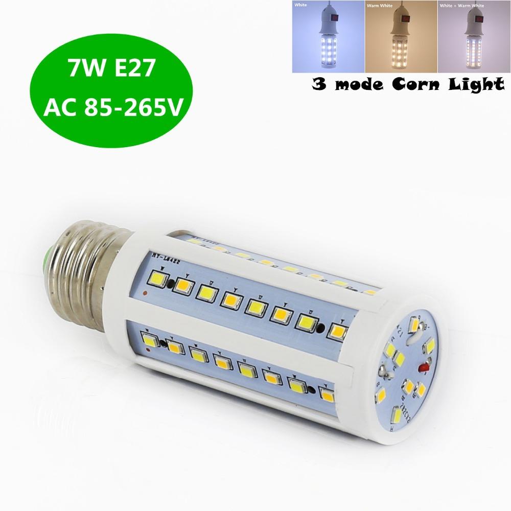 7W 3 modes LED Corn Light E27 Energy Saving Lamp Home Lighting led Corn Bulb 56LEDs SMD2835 AC 85-265V Light Bulbs led lamp(China (Mainland))