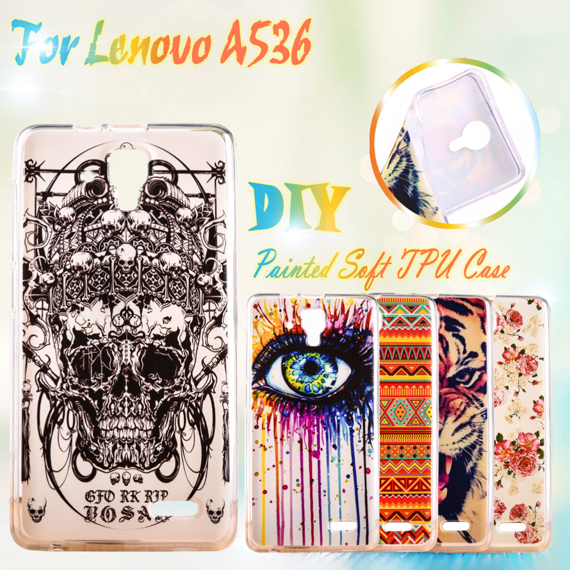 Painting Soft TPU Phone Cover Cases For Lenovo A536 A358T A 536 Soft Silicon Cell Phone Case A536 A358T Case GEL TPU Cover(China (Mainland))