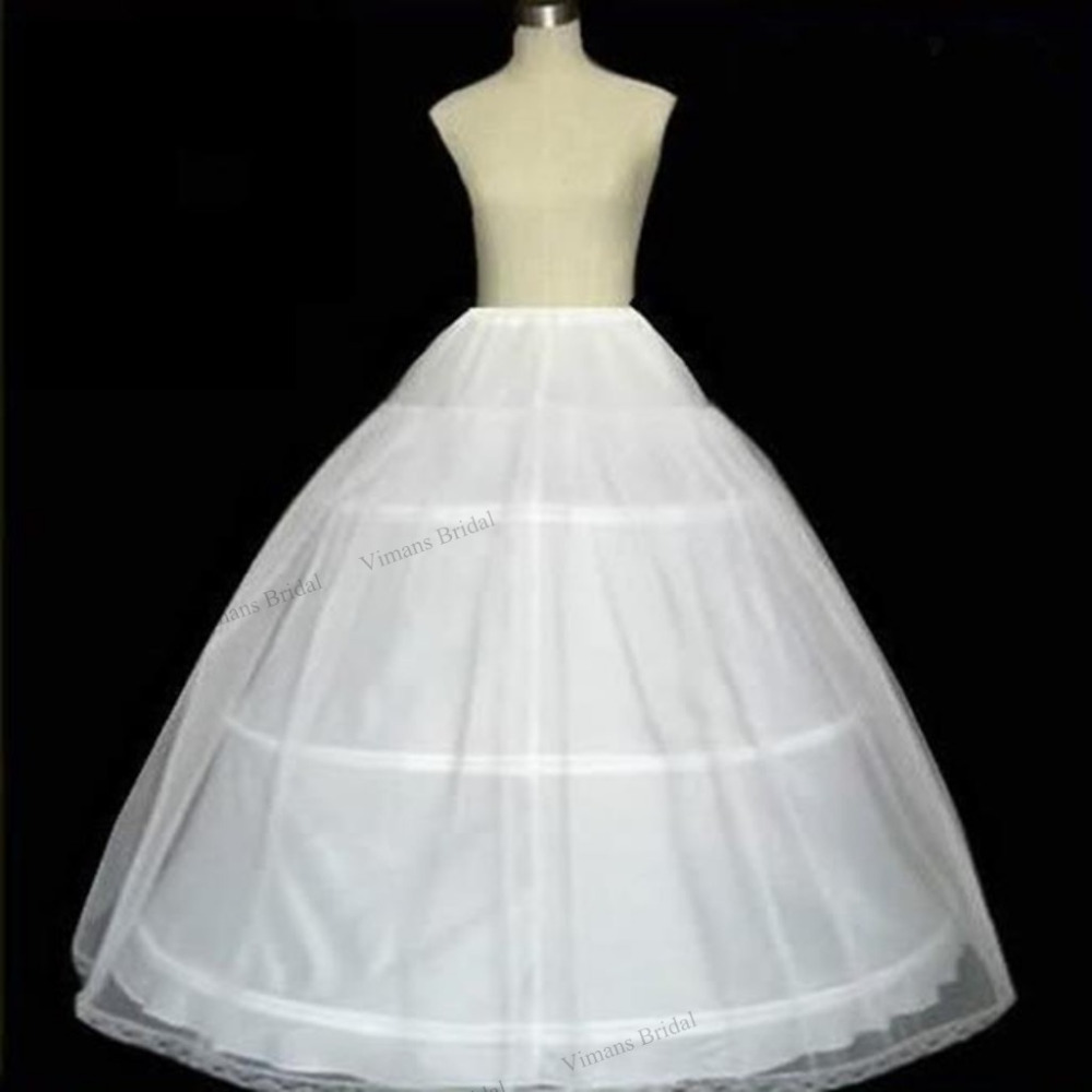 2015 free shipping 3 hoop ball gown bone full crinoline