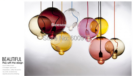Modern lamp Crystal glass convex point ball pendant light one piece aslo for wholesale (dia 260mm*H 360mm)(China (Mainland))