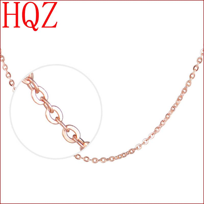 45cm Chain Fine Trendy Gold plated O Shape Women Short Cross Link Chain Necklaces 18 inch Jewelry(China (Mainland))