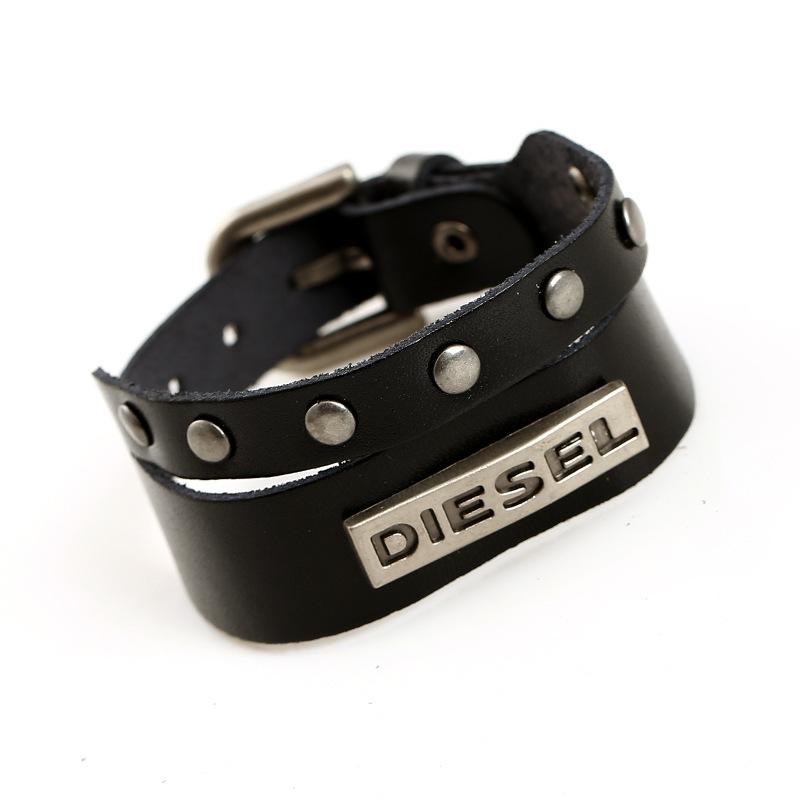 pulseira masculina vintage DZ charm bracelet men genuine Leather bracelets bangles Only The Brave men bracelet