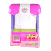 Party Toy Group Fun Coin Operated Candy Grabber Desktop Doll Candy Catcher Crane Machine Prize Machine wtih LED Light(China (Mainland))