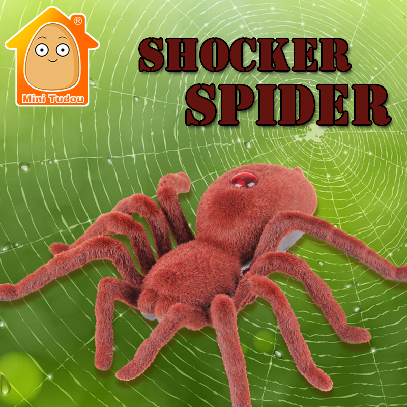 Minitudou 2016 Brand New High Quality 11 2CH Infrared RC Realistic Shocker Spider Prank Remote Control Toy For Halloween Gift(China (Mainland))
