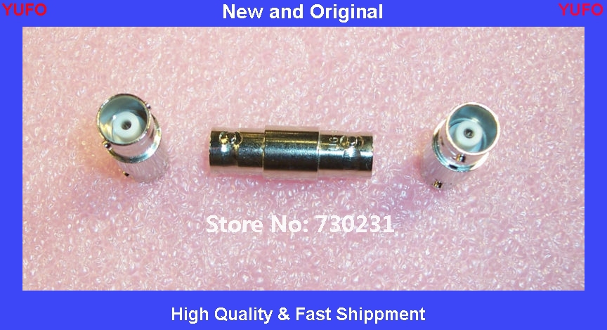 Free Shipping 4 pcs 221551-9 AMP BNC JACK to BNC JACK IN-LINE SPLICE WITH SILVER CONTACTS(China (Mainland))