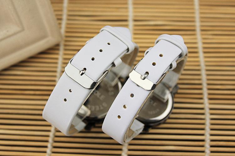 Любовник часы мода женские часы и мужские часы кожаный ремешок любовь часы кварцевые часы st197