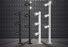 New hot 1 pz lungo palo ha condotto il riflettore 2 w 3 w lampada gioielli vetrina luce 85-265 v display del contatore gundam cabinet argento nero al(China (Mainland))