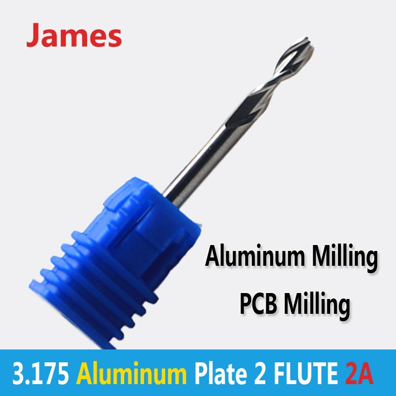 1pc 3.175mm SHK AA Series PCB Aluminum Plate Cutters 2 flutes Aluminum Milling Tools(China (Mainland))