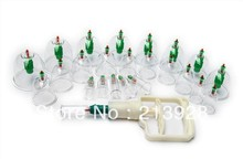 Chinese Medical cupping 24 Cups Set Kit 8 magnets Point Health Massage Acupuncture Cupping wryw