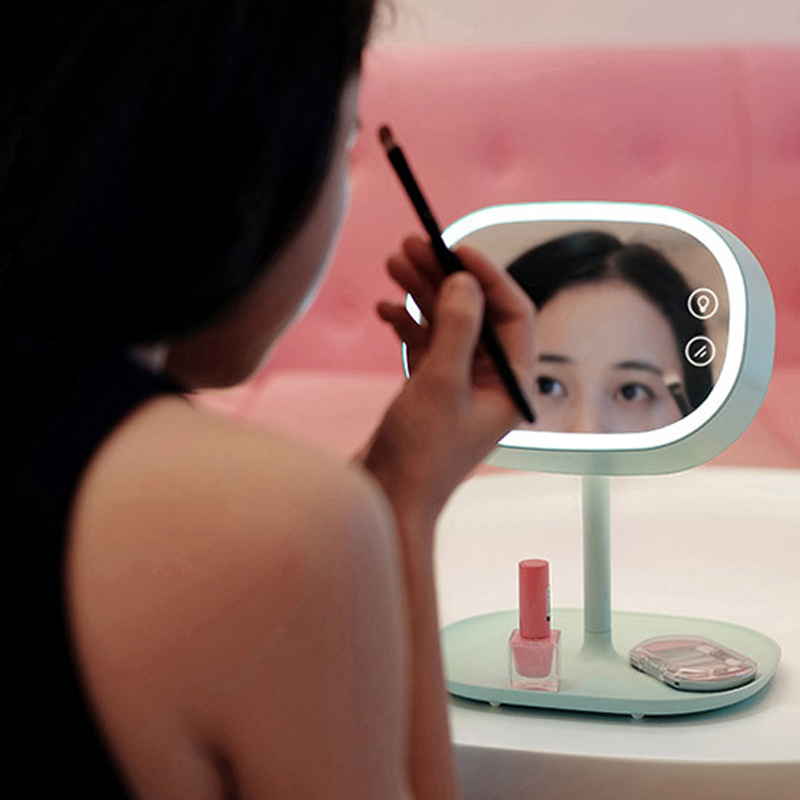 2016 Fashion women lady Led Professional Makeup Mirror Led Light Table Stand Magnifying Mirror makeup set health &amp; beauty 828T<br><br>Aliexpress